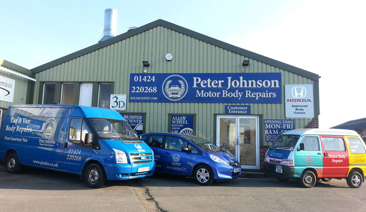Peter Johnson Motor Body Repairs Ltd Shop Front