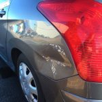 Car with dent