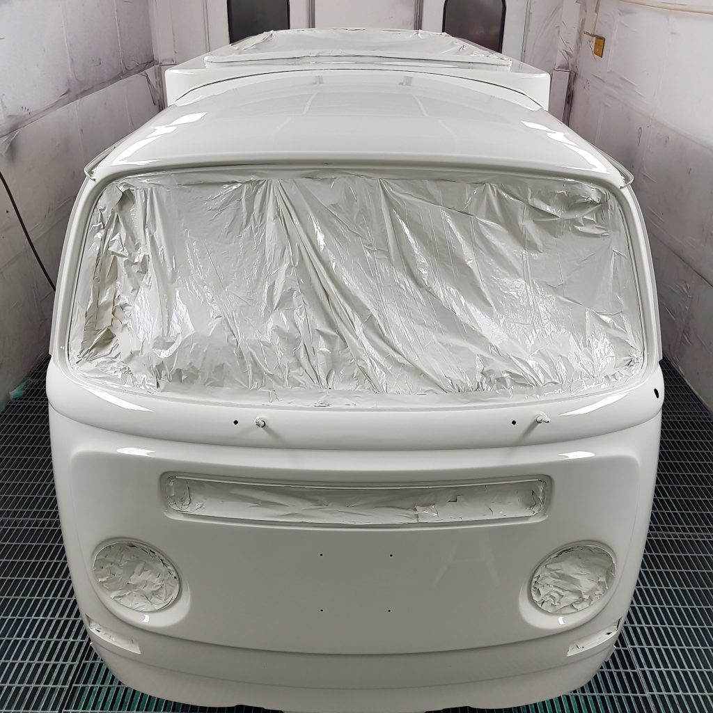 White campervan paint job front end