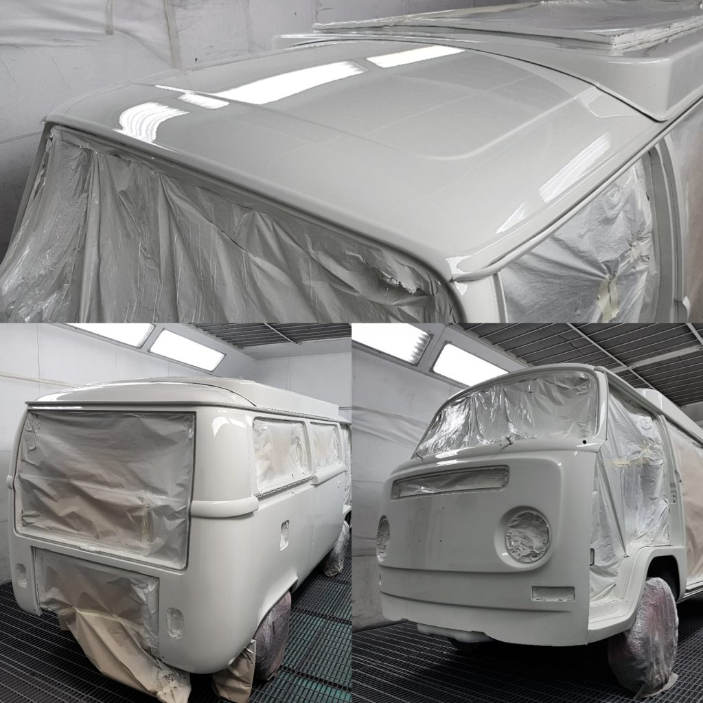 White campervan paint job
